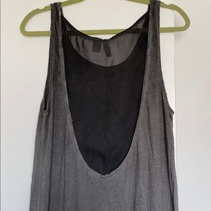 H&M maxi dress with see through back